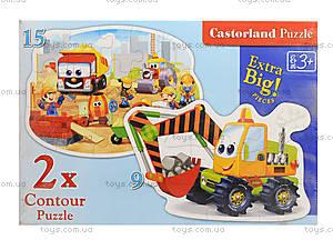 Пазл Castorland 2хContour «Строительные работы», 065, игрушки