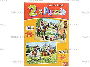 Пазл 2 в 1 «Прогулки на лошадях», B-021079, купить
