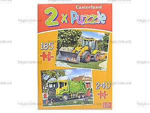 Пазл Castorland 2 в 1 «Спецтехника», В-021130, игрушки
