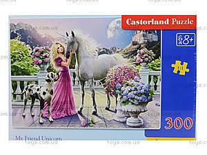 Пазл Castorland на 300 деталей «Девушка и единорог», В-030088, фото