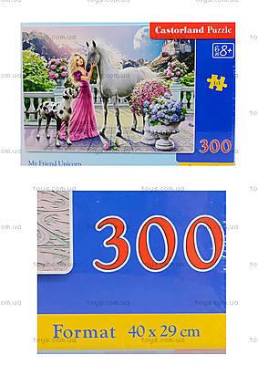 Пазл Castorland на 300 деталей «Девушка и единорог», В-030088