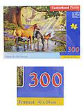 Пазлы Castorland 300 «Лошади у реки», В-030286, фото