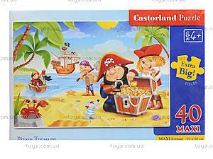 Пазл Castorland maxi на 40 деталей «Пиратский клад», В-040148, фото