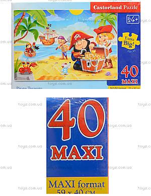 Пазл Castorland maxi на 40 деталей «Пиратский клад», В-040148
