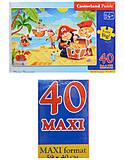 Пазл Castorland maxi на 40 деталей «Пиратский клад», В-040148, отзывы