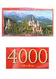 Пазлы Castorland 4000 «Вид на замок Нойшванштайн», С-400218, купить