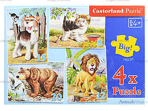 Пазл 4 в 1 «Животные», B-04041, цена