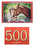 Пазл Castorland на 500 деталей «Девушка и лошадь», В-52516, фото