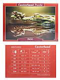 Пазл Castorland на 500 деталей «Крокодил», В-52318, отзывы
