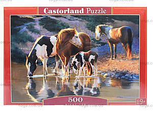 Пазл «Лошади у воды», В-52097, фото