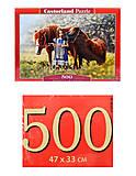 Пазл на 500 деталей «Лошади», В-52509, фото