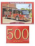 Пазлы Castorland 500 «Пожарная машина», В-52660