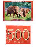 Пазл Castorland на 500 деталей «Слоны», В-52196, фото