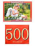 Пазл Castorland на 500 деталей «Ангел в саду», В-51991