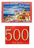 Кастор пазлы 500 «Вид Санторини», В-52905