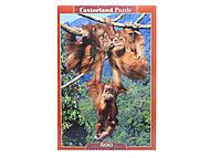 Пазл на 500 деталей «Игры обезьян», В-51601