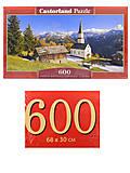 Пазлы Castorland 600 «Церковь Мартерле в Коринтии. Австрия», B-060153, отзывы