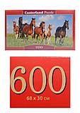 Кастор пазлы 600 «Лошади», B-060351, фото