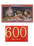 Пазлы Castorland 600 «Цветы и фрукты на столе», B-060108, фото