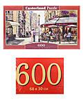 Пазлы Castorland 600 «Любовь в Парижа», B-060085, фото