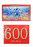Кастор пазлы 600 «Под водой», B-060375