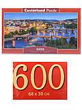 Пазлы Castorland 600 «Ночная Прага», B-060061, фото