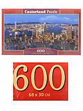 Пазлы Castorland 600 «Ночной Гонконг», B-060290, фото