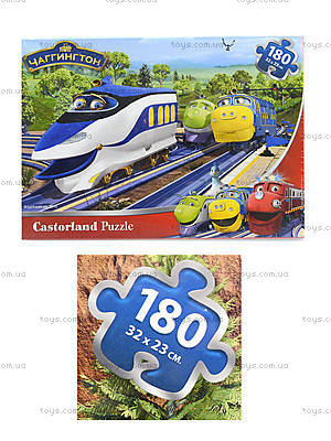 Пазл Castorland на 180 деталей «Веселые паровозики», В-РU18027