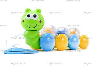 Детская каталка «Чудо-гусеница» со шнурком, 0983, купить