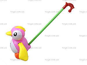 Каталка на палке «Пингвин», 986-38, детские игрушки