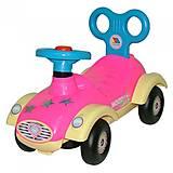 Каталка-автомобиль для девочек «Сабрина», 7970