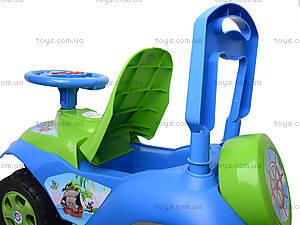 Каталка «Автошка» с музыкальным рулем, 013117R,U06, детские игрушки