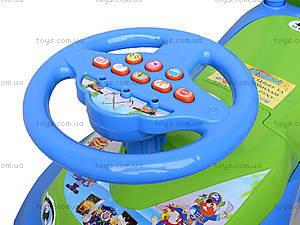 Каталка «Автошка» с музыкальным рулем, 013117R,U06, іграшки