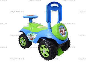 Каталка «Автошка» с музыкальным рулем, 013117R,U06, игрушка