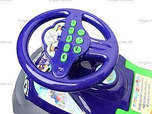 Каталка «Автошка» с музыкальным рулем, 013117R,U06, фото