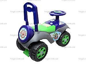 Каталка «Автошка» с музыкальным рулем, 013117R,U06, игрушки