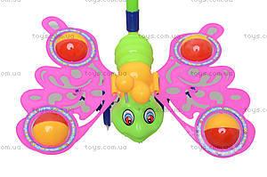 Игрушка-каталка на палке «Бабочка», 301, игрушки