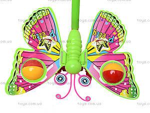 Каталка с палкой «Бабочка», 868, фото
