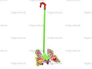 Каталка с палкой «Бабочка», 868, игрушки