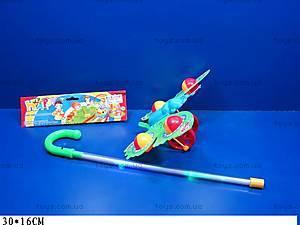 Каталка-бабочка с ручкой, 7084