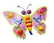 Каталка «Бабочка», розовая , 1200/305