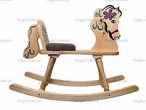 Деревянная качалка «Лошадь», из березы, LK160, цена