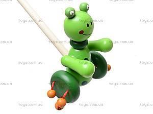 Каталка деревянная «Зверьки», W02-3703, детские игрушки