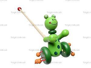 Каталка деревянная «Зверьки», W02-3703, магазин игрушек