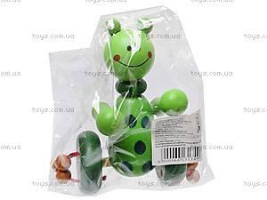 Каталка деревянная «Зверьки», W02-3703, toys