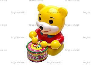 Каталка детская «Медведь-барабанщик», 1323, фото