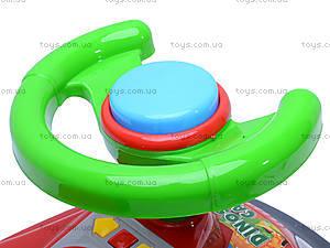 Каталка «Динозавр», 11-003_муз, детские игрушки