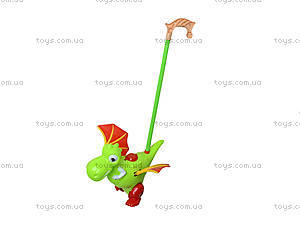 Детская каталка на палке «Динозаврик», 986-4, игрушки
