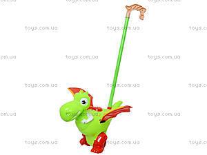Детская каталка на палке «Динозаврик», 986-4, магазин игрушек