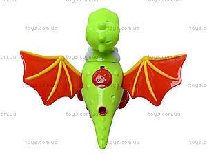 Детская каталка на палке «Динозаврик», 986-4, toys.com.ua
